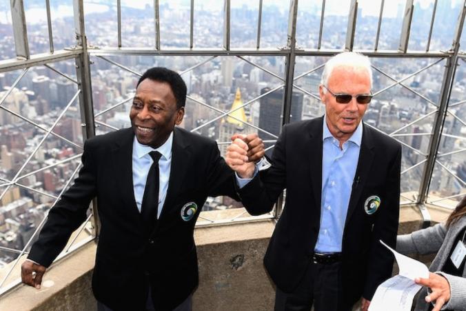Pelé y Beckenbauer
