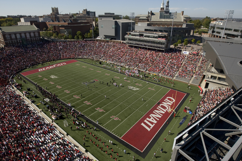 Nippert stadium during 2008 Hoecoming football game.