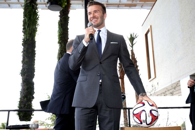 David Beckham, Commissioner Don Garber and Mayor Carlos Gimenez Press Conference