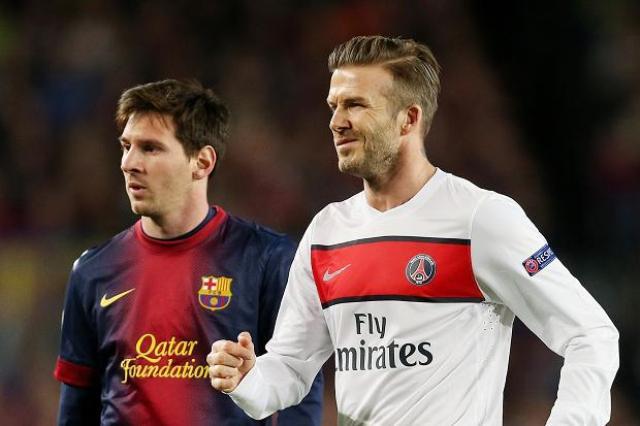 Messi y Beckham